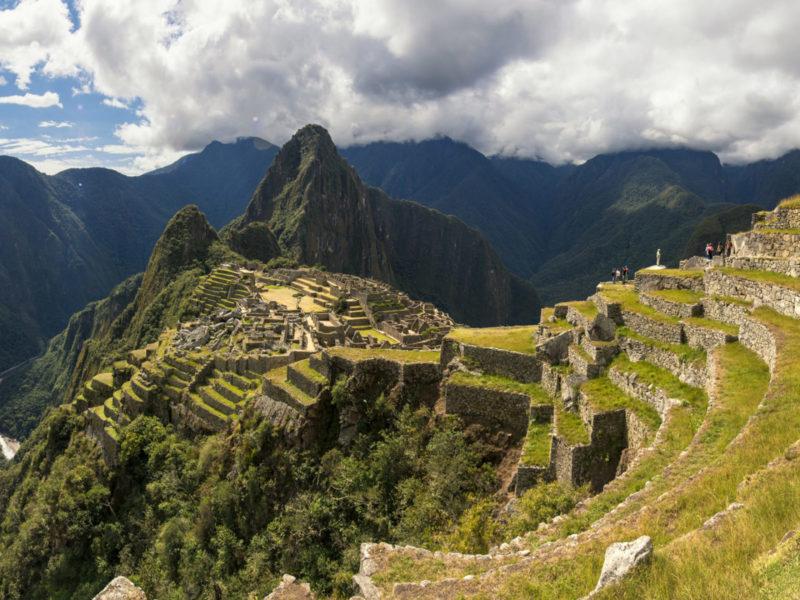 Uitzicht Op De Machu Picchu In Peru