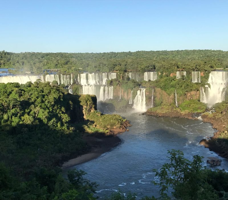 Hoogtepunten In Brazilië Iguazu Watervallen