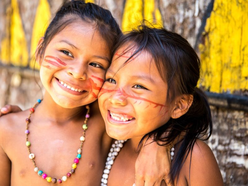 Lachende Kinderen In Brazilië