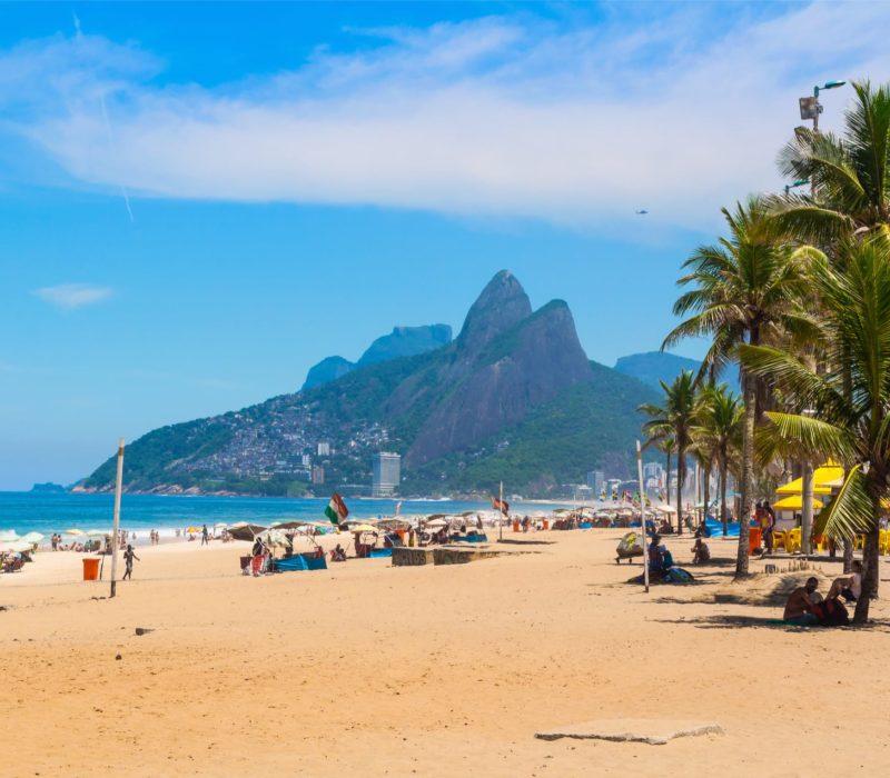 Copacabana In Rio Reizen Door Brazilië