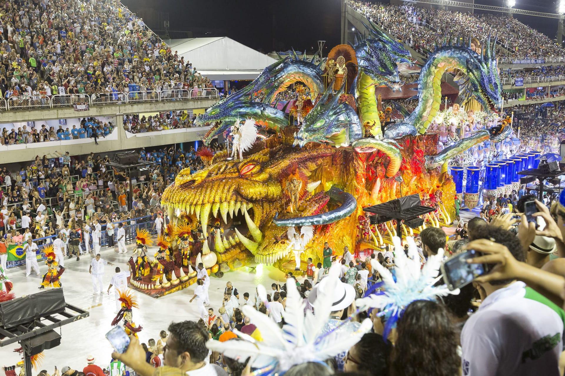 Carnaval In Sambadrom In Rio De Janeiro
