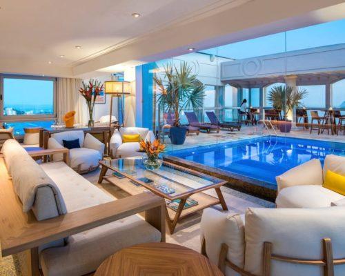 Bovenverdieping Met Zwembad, Lounge En Uitzicht Op Rio De Janeiro