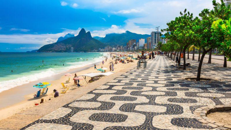 Copacabana Boulevard In Rio