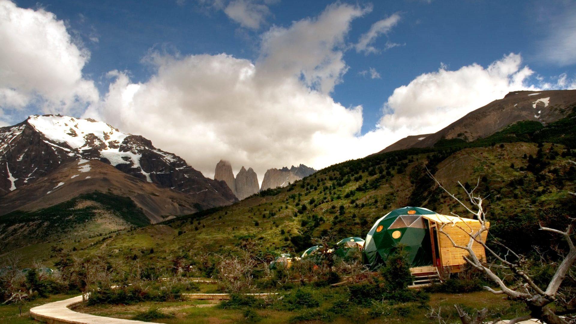 Chili EcoCamp patagonia uitzicht buiten