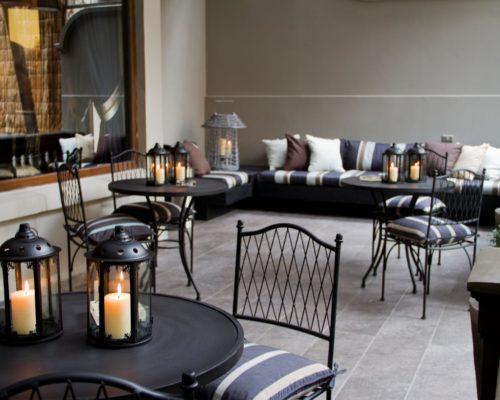 Sfeervolle Patio In Casa Bueras Boutique Hotel