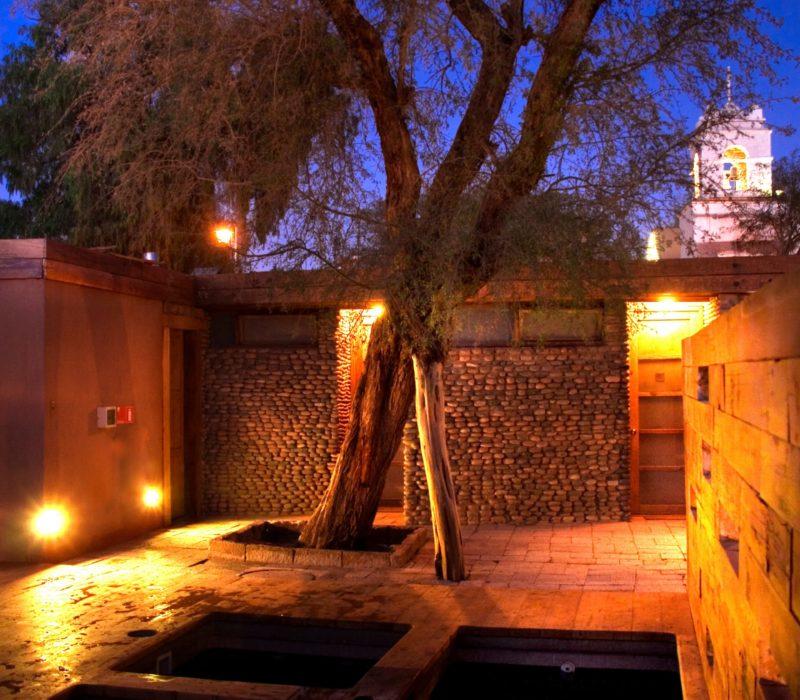 Terrantai Lodge Andino Patio In De Avond