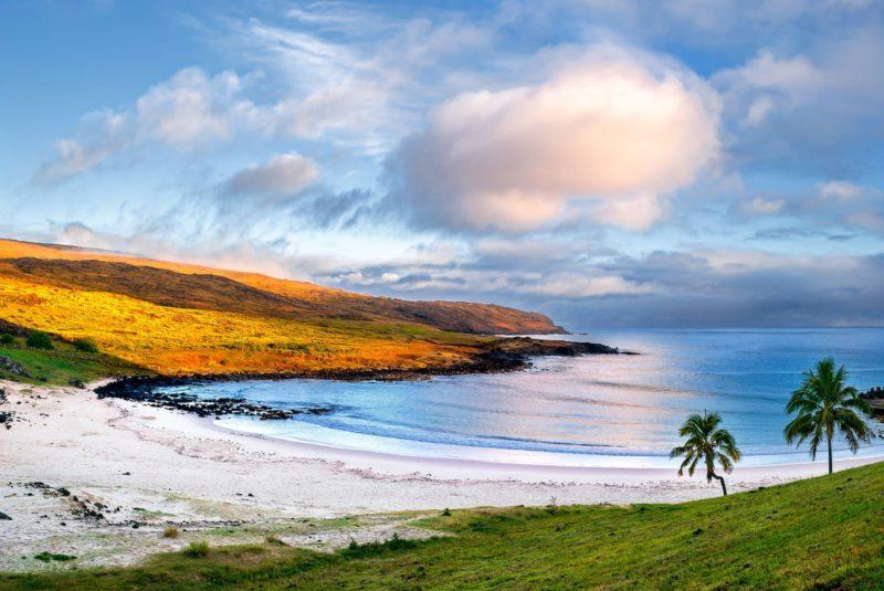 Chili Paaseiland Strand En Zee