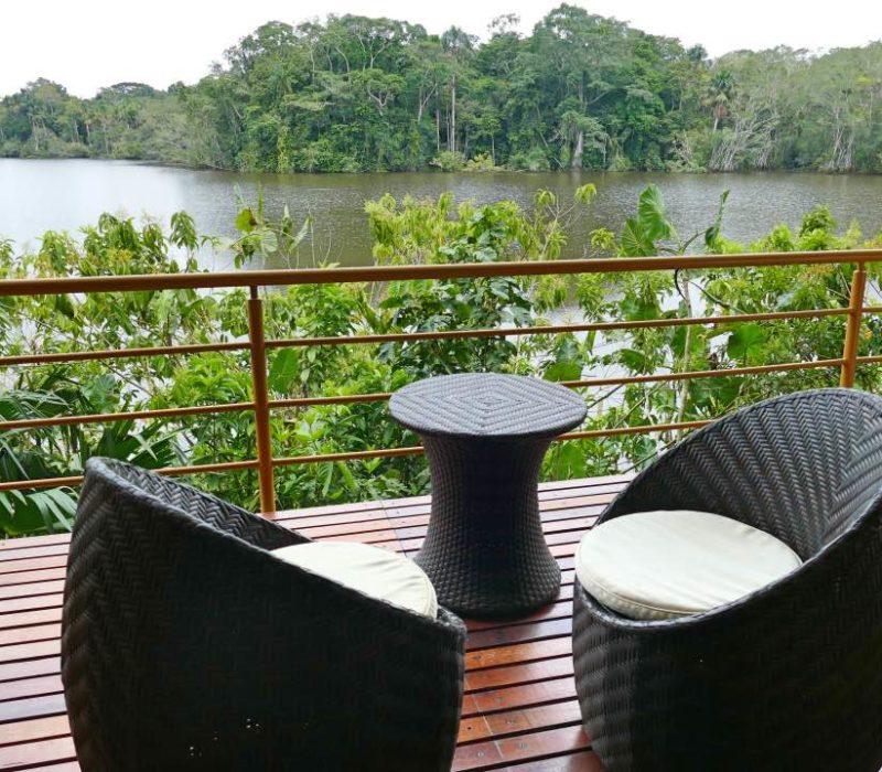 Amazone La Selva Lodge In Ecuador Privé Balkon