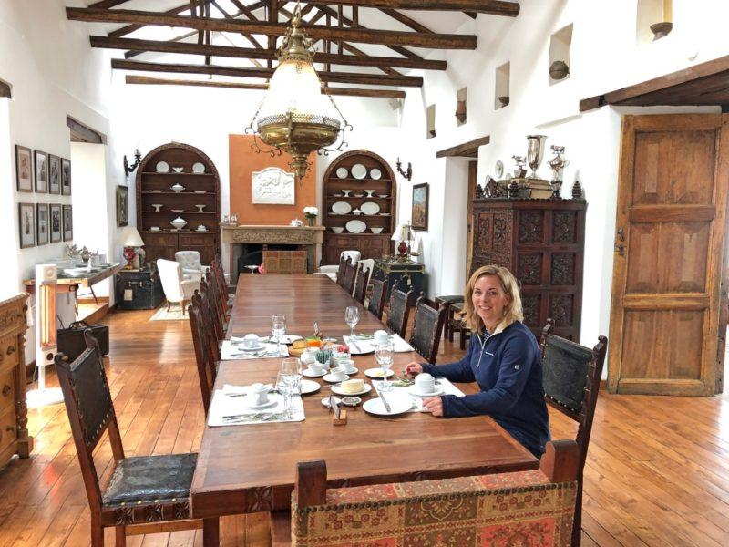 Ontbijt Hacienda Zuleta Ecuador