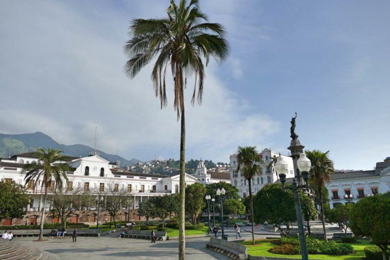 Plaza Grande In Quito Ecuador