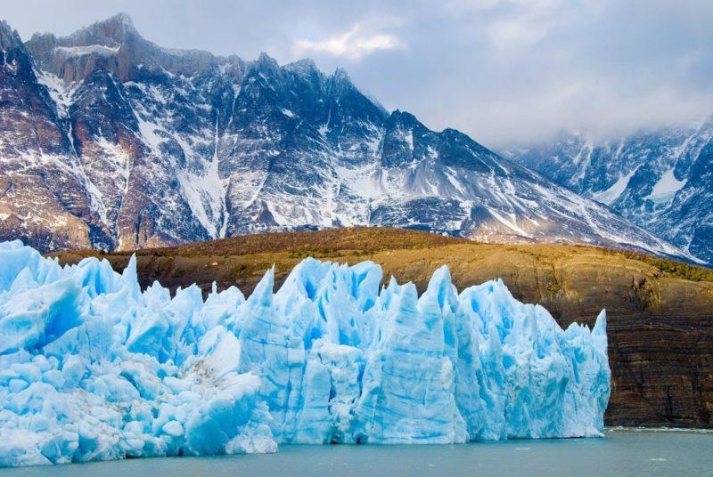 Gletsjers En Fjorden In Chili