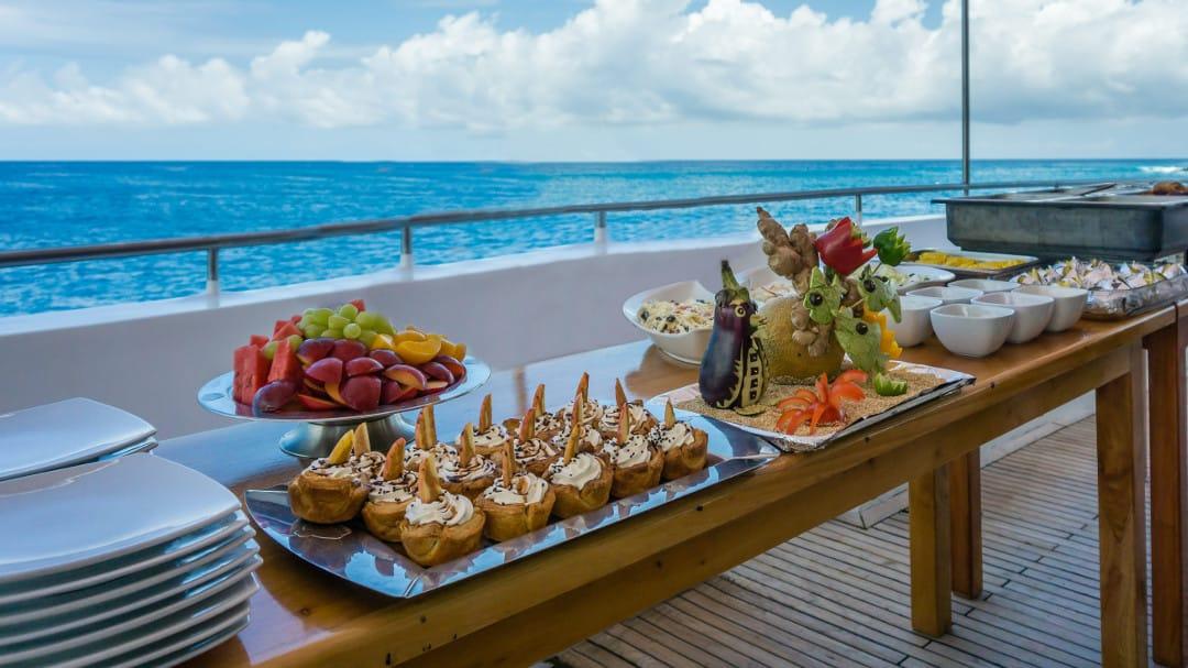 Culinair eten tijdens de Galapagos cruise
