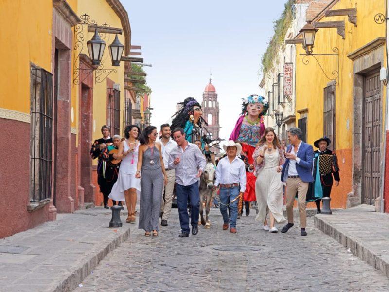 Mexico San Miguel Allende Feest Op Straat