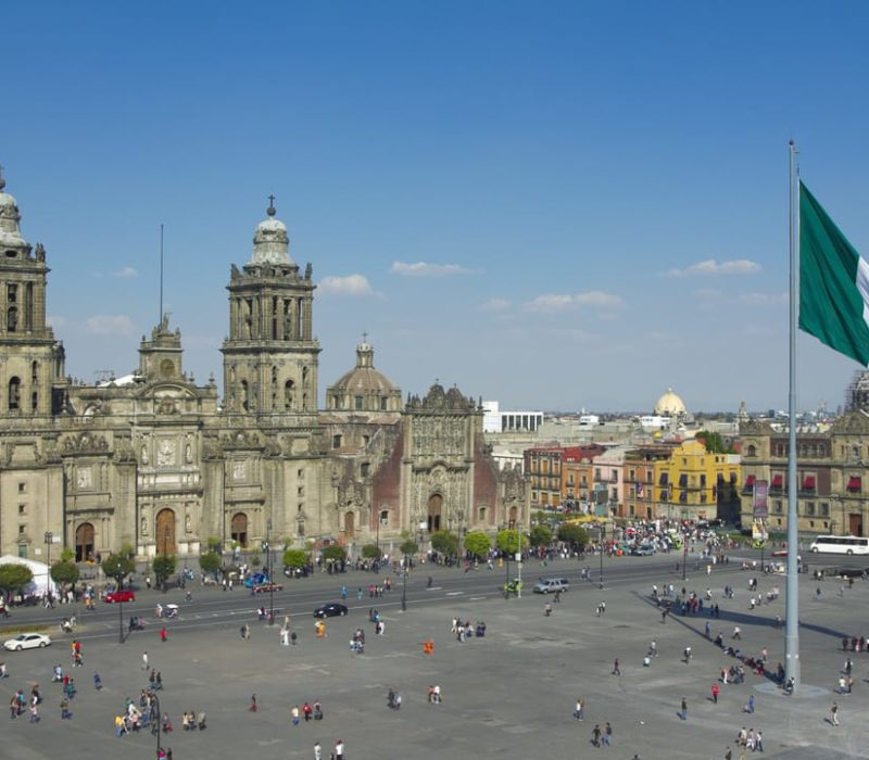 Zocalo In Mexico Stad