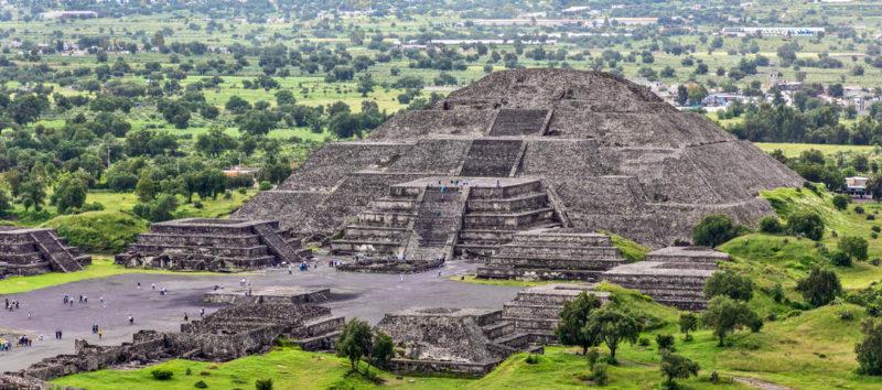 Bezoek De Piramides Van Teotihuacan