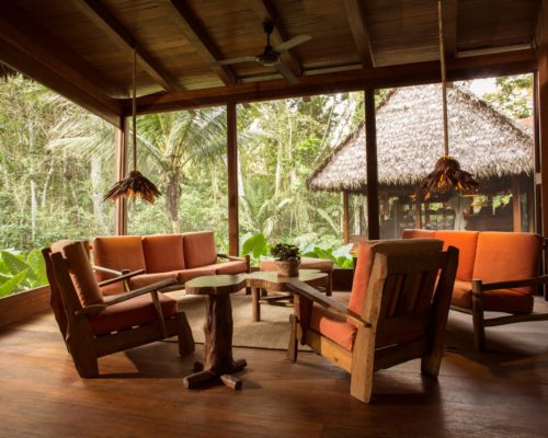 Lounge Ruimte Luxe Ecolodge In De Amazone