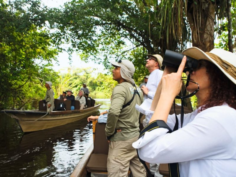 Spot Wildlife Tijdens De Amazone Aria Riviercruise In Peru