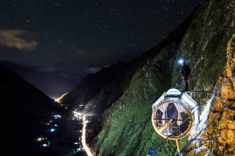 De Skylodge In De Heilige Vallei Van Peru