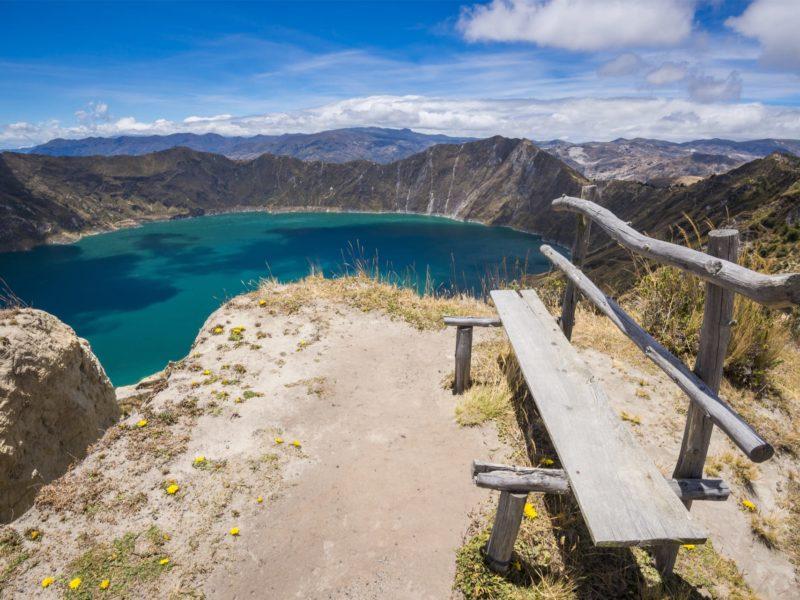 Wandelen In Ecuador Quilotoa Kratermeer