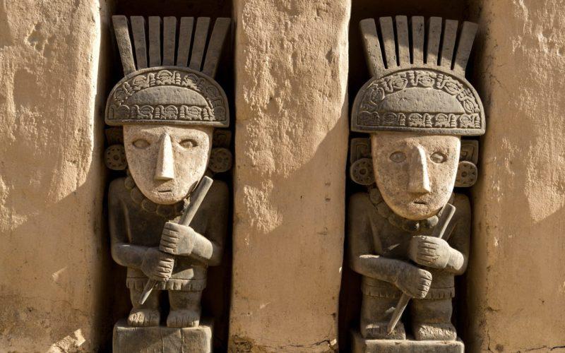 Inca Opgravingen Bij Chan Chan In Noord Peru