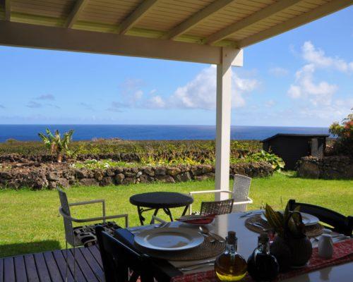 Uitzicht Op De Oceaan En Omliggende Landschappen Paaseiland