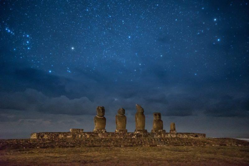 Moai Beelden Van Ahu Tahai