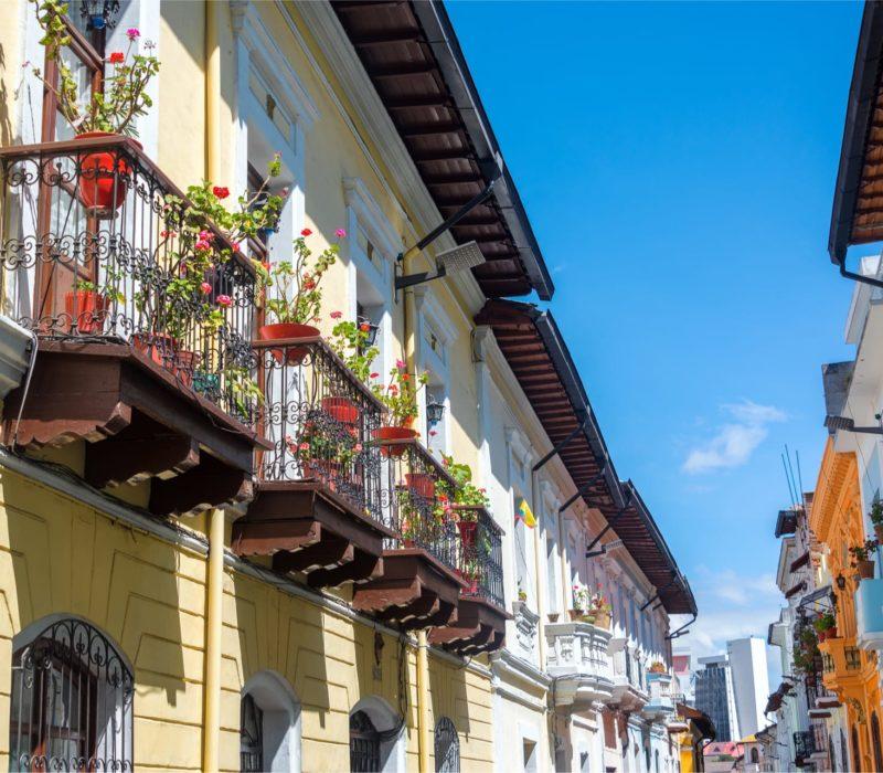 Straat Van Calle La Ronda In Quito