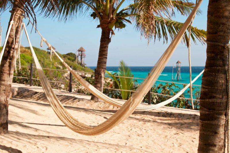 Hangmat Op Het Strand Mexico