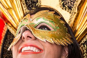 Braziliaanse Dame Viert Carnaval In Rio