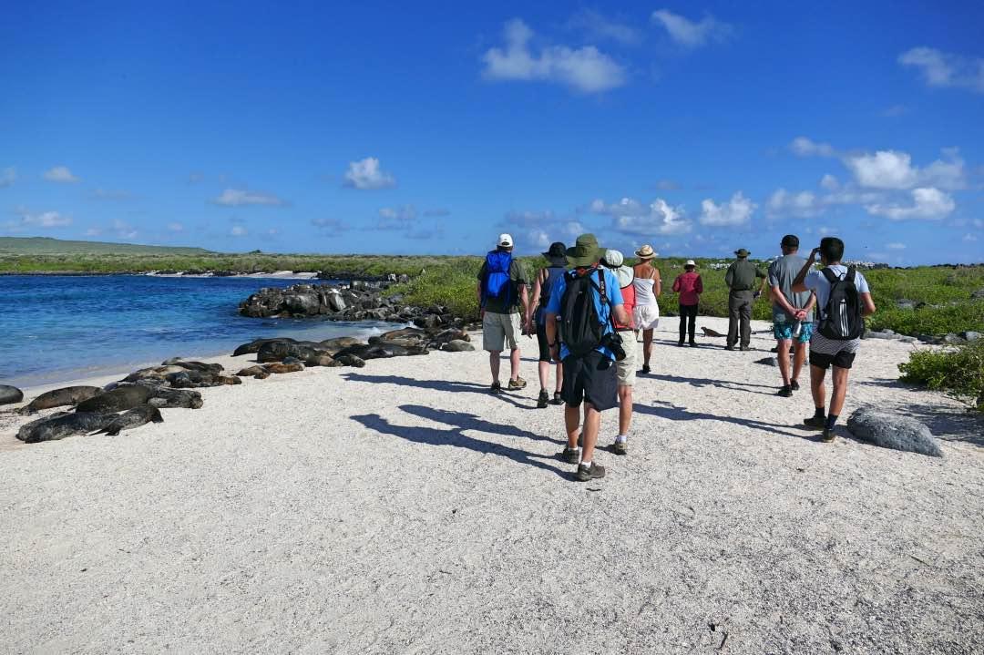 Wandelen tijdens de kleinschalige Galapagos cruise