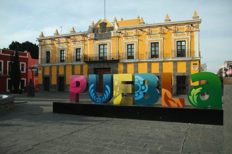 Het Theater Van Puebla In Mexico