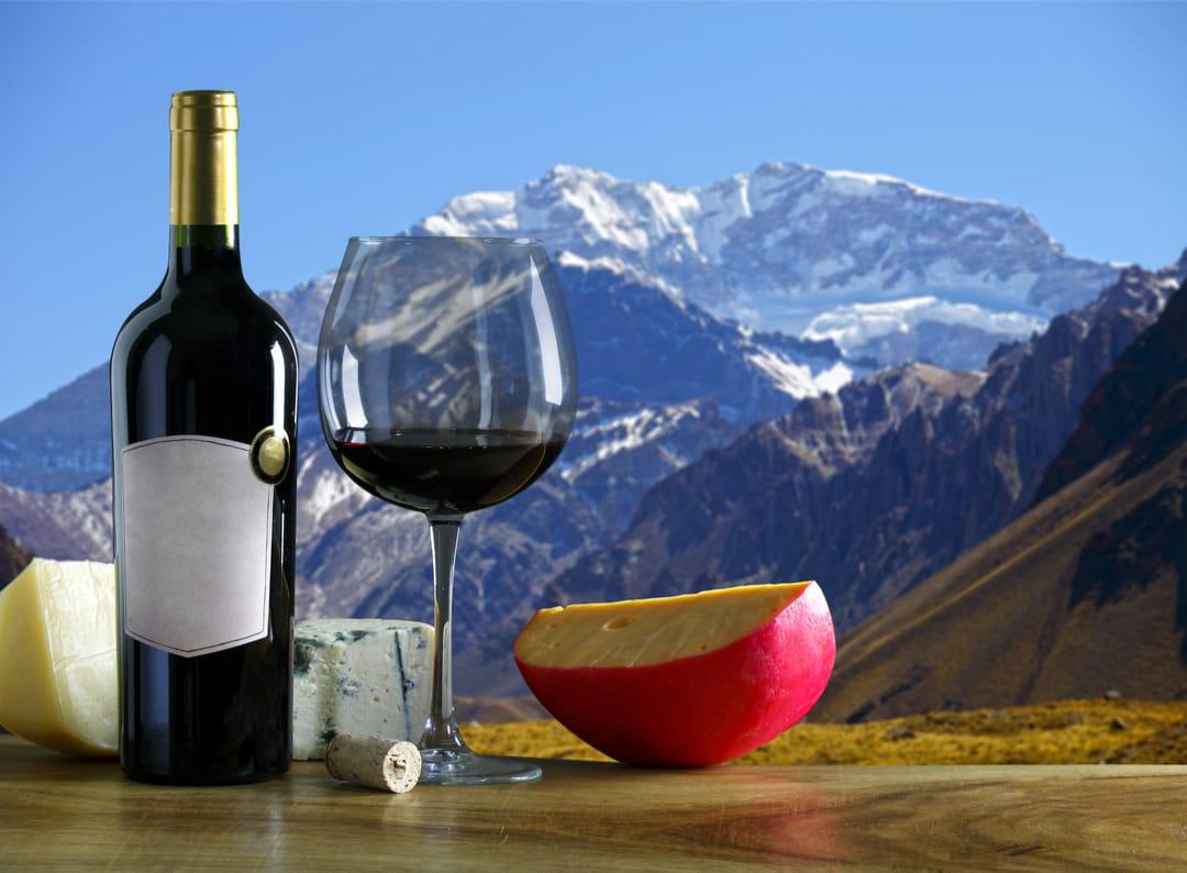 Uco-vallei Met Het Andesgebergte