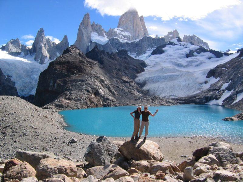 Het Huemul Meer Bij El Chalten In Argentinië