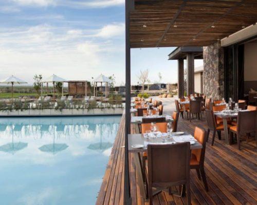 Luxe Hotel Mendoza Argentinië Buitenterras