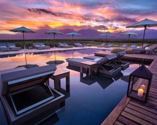 The Vines Resort & Spa Mendoza Zonsondergang