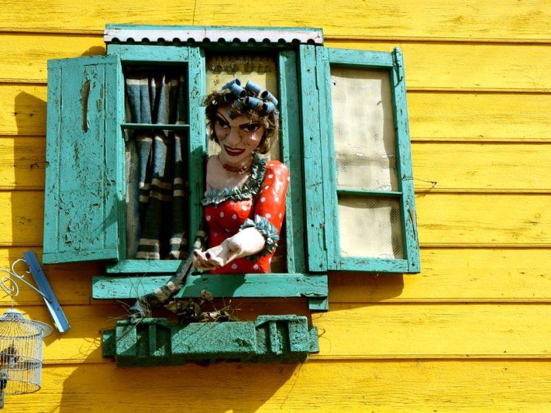 Argentinië Buenos Aires La Boca Kleurrijke Wijk