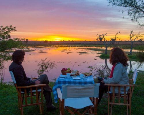 Romantisch Dineren Bij Zonsondergang In Esteros Del Ibera