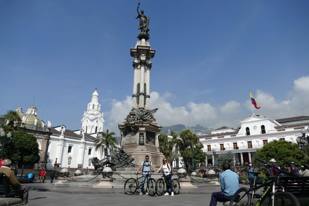 Fietstour in Quito Plaza Grande