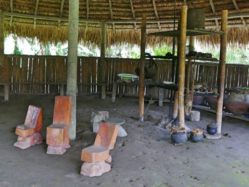 Casa Nativa In De Amazone In Ecuador