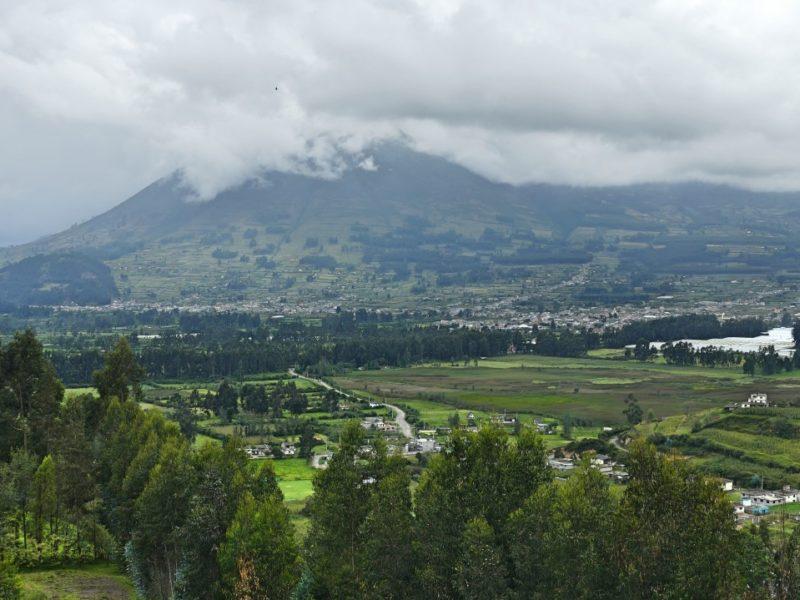 Vulkaan In De Andes Van Ecuador