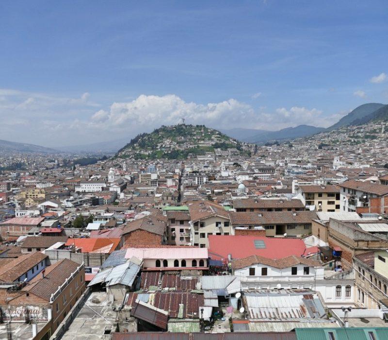 Uitzicht Vanaf De Basilica In Quito
