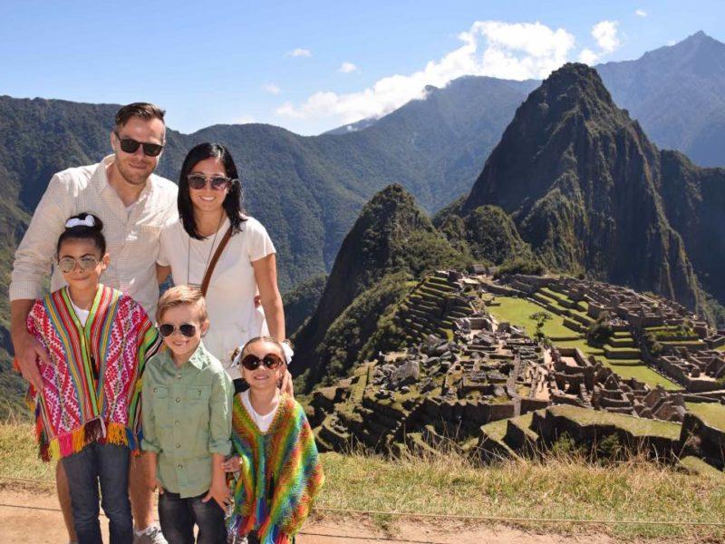 Machu Picchu Tijdens Familiereis In Peru