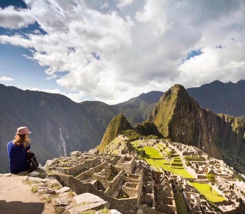 Uitzicht Op Machu Picchu In Peru