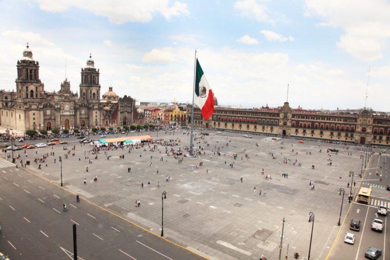 De Zocalo In Mexico Stad