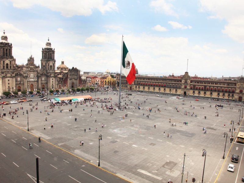 De Zocalo In Mexico Stad