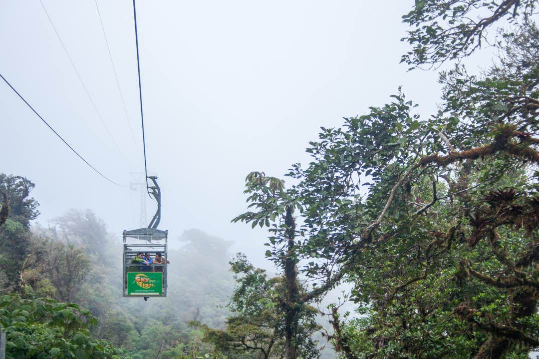 Sky Tram In Monteverde Costa Rica