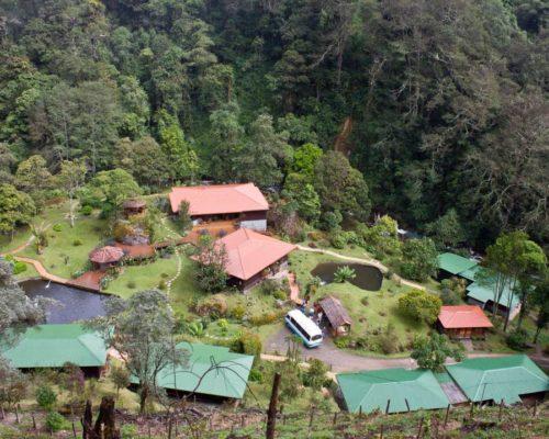 Uitzicht Op De Trogon Lodge In San Gerardo De Dota