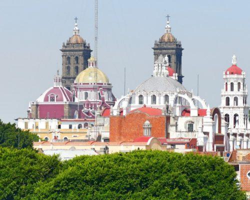 Mexico Puebla Casa Reyna Uitzicht