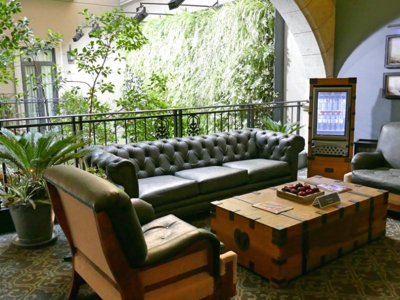 Lounge Area In Boutique Hotel