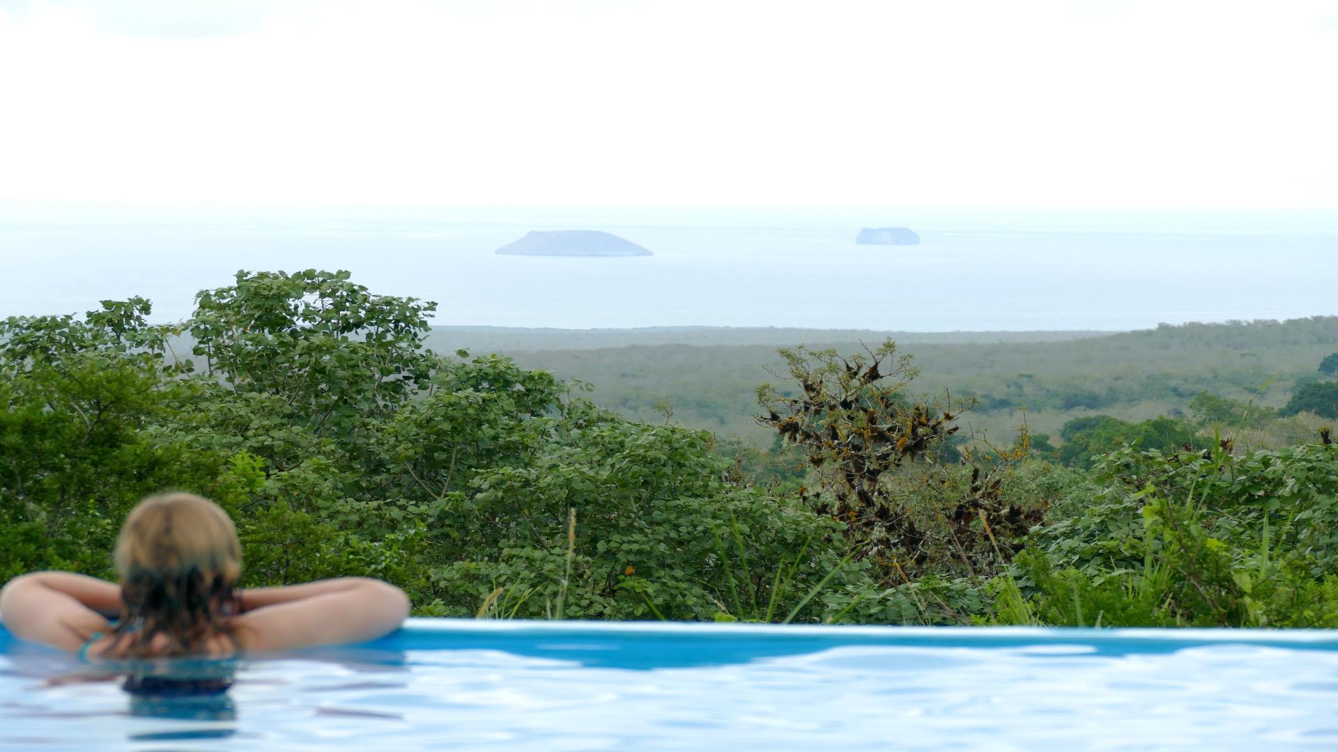 Galapagos Uitzicht vanaf het zwembad
